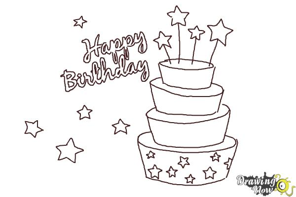 Brilliant How To Draw A Birthday Card Drawingnow Personalised Birthday Cards Bromeletsinfo