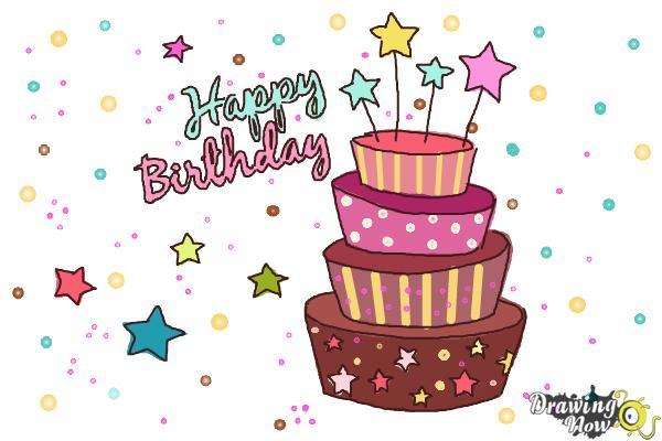 Brilliant How To Draw A Birthday Card Drawingnow Funny Birthday Cards Online Alyptdamsfinfo