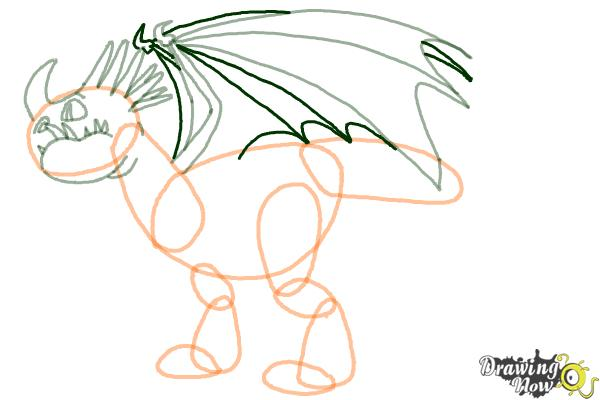 How to Draw a Deadly Nadder Dragon from How to Train Your Dragon - Step 6