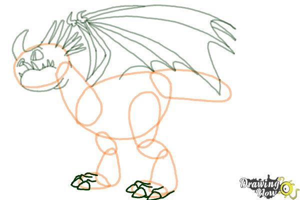 How to Draw a Deadly Nadder Dragon from How to Train Your Dragon - Step 7