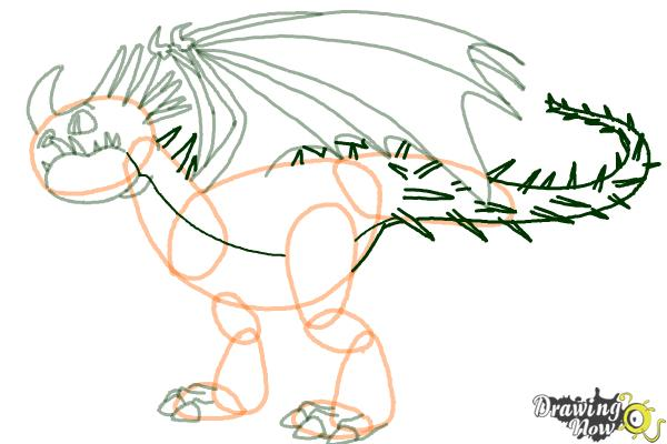 How to Draw a Deadly Nadder Dragon from How to Train Your Dragon - Step 8