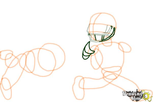 How to Draw Football Players - Step 10