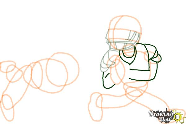 How to Draw Football Players - Step 11