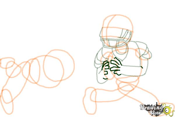 How to Draw Football Players - Step 12