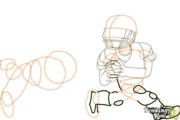 How to Draw Football Players - Step 13