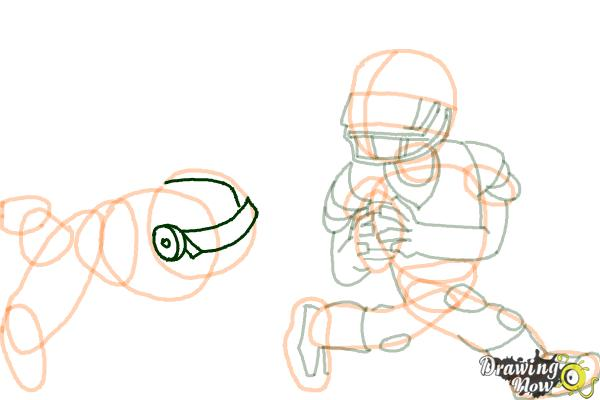 How to Draw Football Players - Step 14