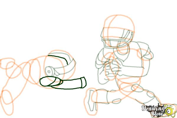 How to Draw Football Players - Step 15