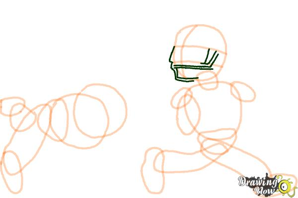 How to Draw Football Players - Step 9