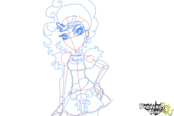 How to Draw Jane Boolittle from Monster High - Step 12