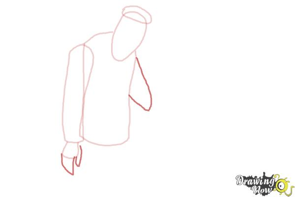 How to Draw Slo Mo, Sloman Mortavitch from Monster High - Step 4
