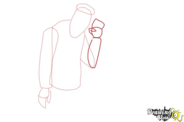 How to Draw Slo Mo, Sloman Mortavitch from Monster High - Step 5
