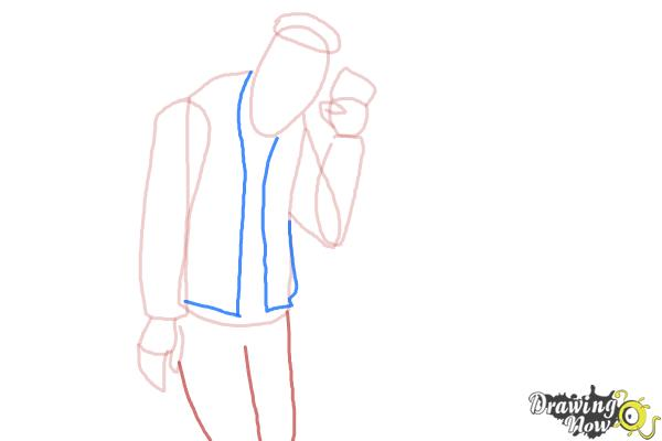 How to Draw Slo Mo, Sloman Mortavitch from Monster High - Step 6