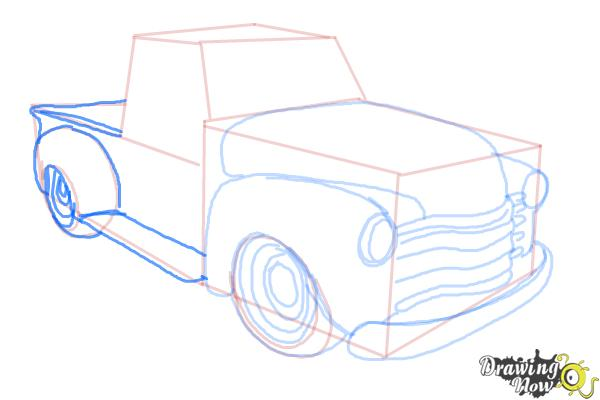 How to Draw a Chevy Truck - Step 10