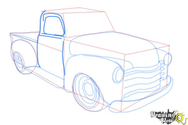 How to Draw a Chevy Truck - Step 11