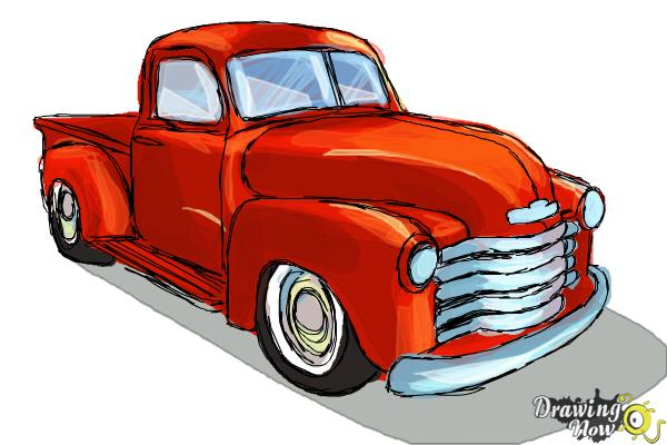 How To Draw A Chevy Truck Drawingnow