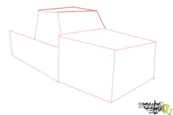 How to Draw a Chevy Truck - Step 4