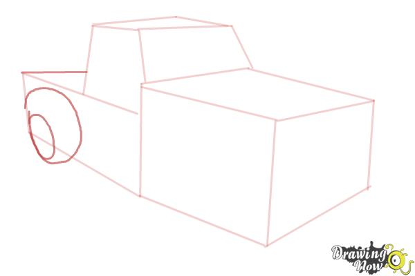 How to Draw a Chevy Truck - Step 5