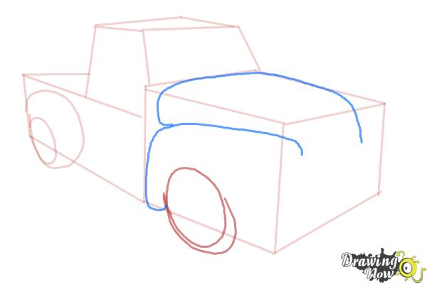 How to Draw a Chevy Truck - Step 6