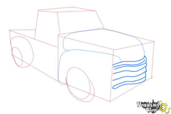 How to Draw a Chevy Truck - Step 7