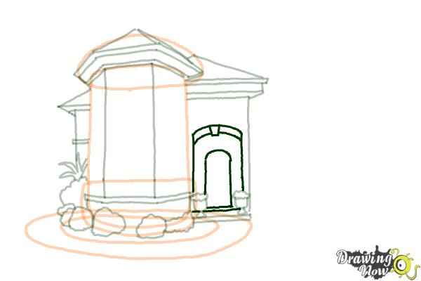 How to Draw a Dream House - Step 10