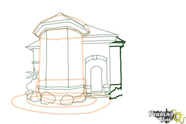 How to Draw a Dream House - Step 11