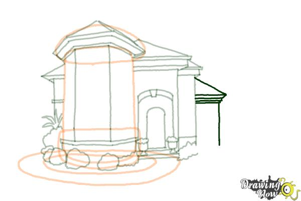 How to Draw a Dream House - Step 12