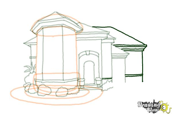 How to Draw a Dream House - Step 13