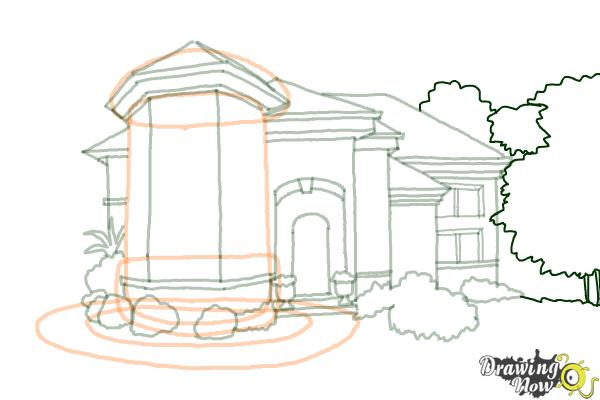 How to Draw a Dream House - Step 15