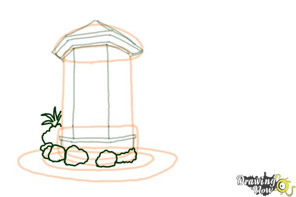 How to Draw a Dream House - Step 7