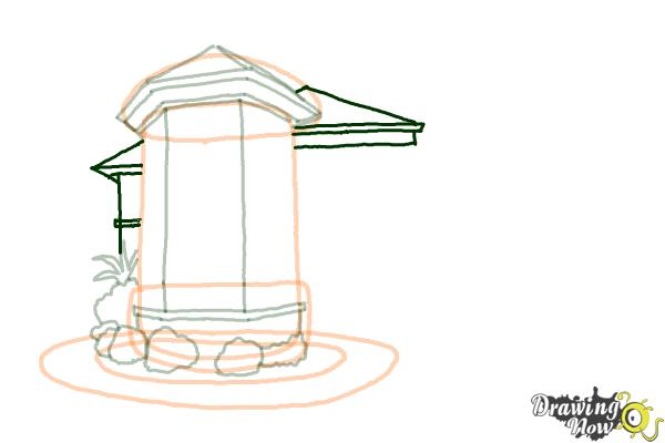 How to Draw a Dream House - Step 8