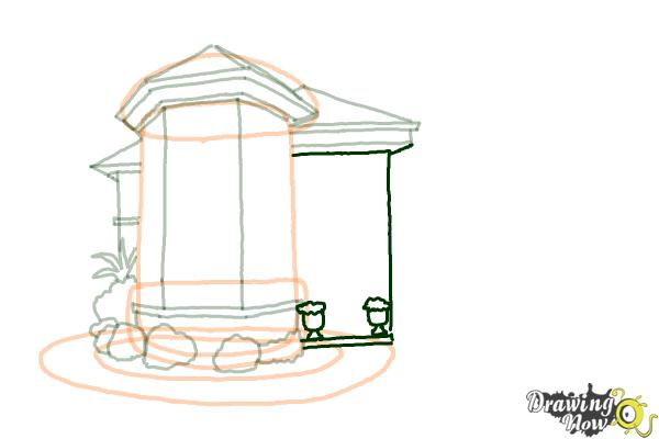 How to Draw a Dream House - Step 9