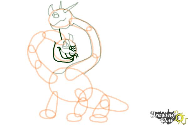 How to Draw a Hideous Zippleback Dragon from How to Train Your Dragon - Step 10