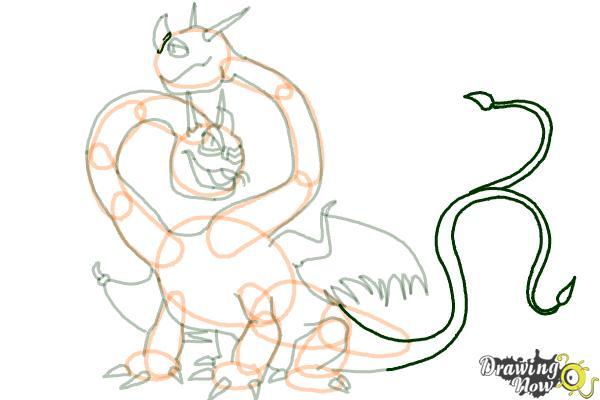 How to Draw a Hideous Zippleback Dragon from How to Train Your Dragon - Step 15