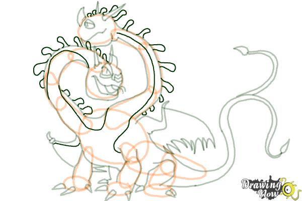 How to Draw a Hideous Zippleback Dragon from How to Train Your Dragon - Step 16