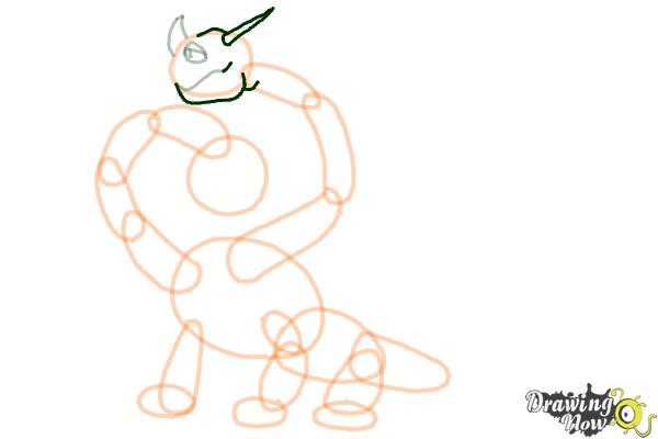 How to Draw a Hideous Zippleback Dragon from How to Train Your Dragon - Step 8