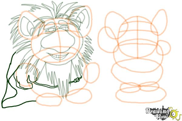 How to Draw The Trolls from Frozen - Step 12