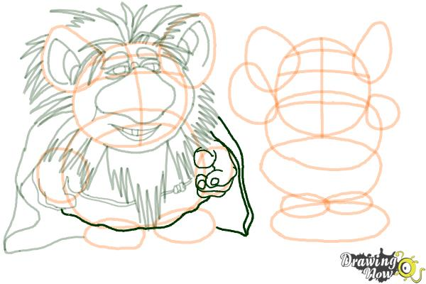 How to Draw The Trolls from Frozen - Step 13