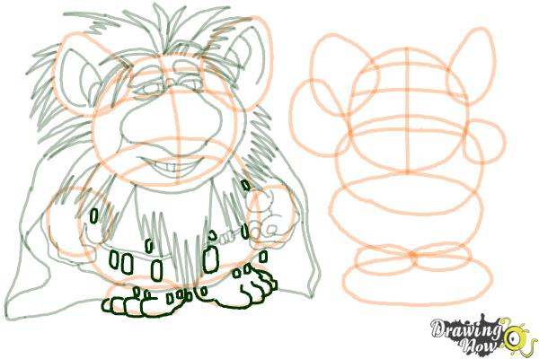 How to Draw The Trolls from Frozen - Step 14