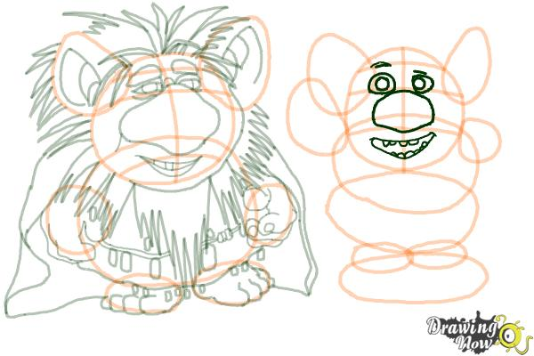 How to Draw The Trolls from Frozen - Step 15
