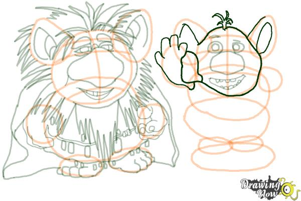 How to Draw The Trolls from Frozen - Step 16