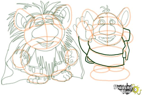 How to Draw The Trolls from Frozen - Step 17