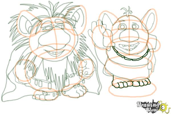 How to Draw The Trolls from Frozen - Step 18