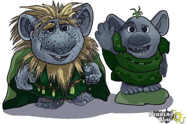 How to Draw The Trolls from Frozen - Step 20