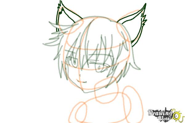 How to Draw Sinon, Shino Asada from Sword Art Online - Step 10