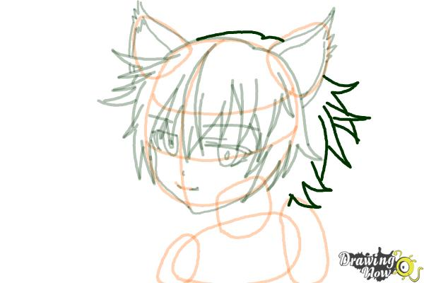 How to Draw Sinon, Shino Asada from Sword Art Online - Step 11