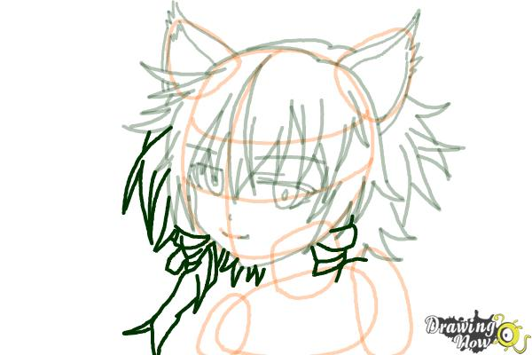 How to Draw Sinon, Shino Asada from Sword Art Online - Step 12