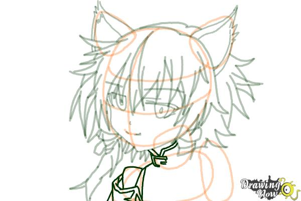 How to Draw Sinon, Shino Asada from Sword Art Online - Step 13