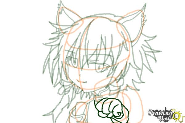 How to Draw Sinon, Shino Asada from Sword Art Online - Step 14