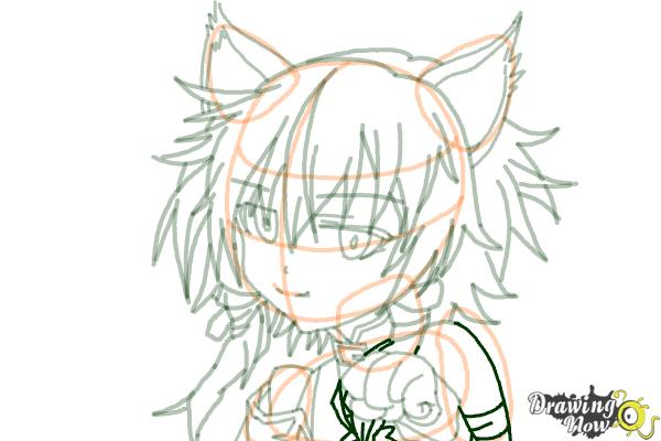 How to Draw Sinon, Shino Asada from Sword Art Online - Step 15