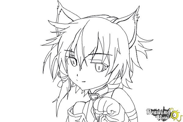 How to Draw Sinon, Shino Asada from Sword Art Online - Step 16